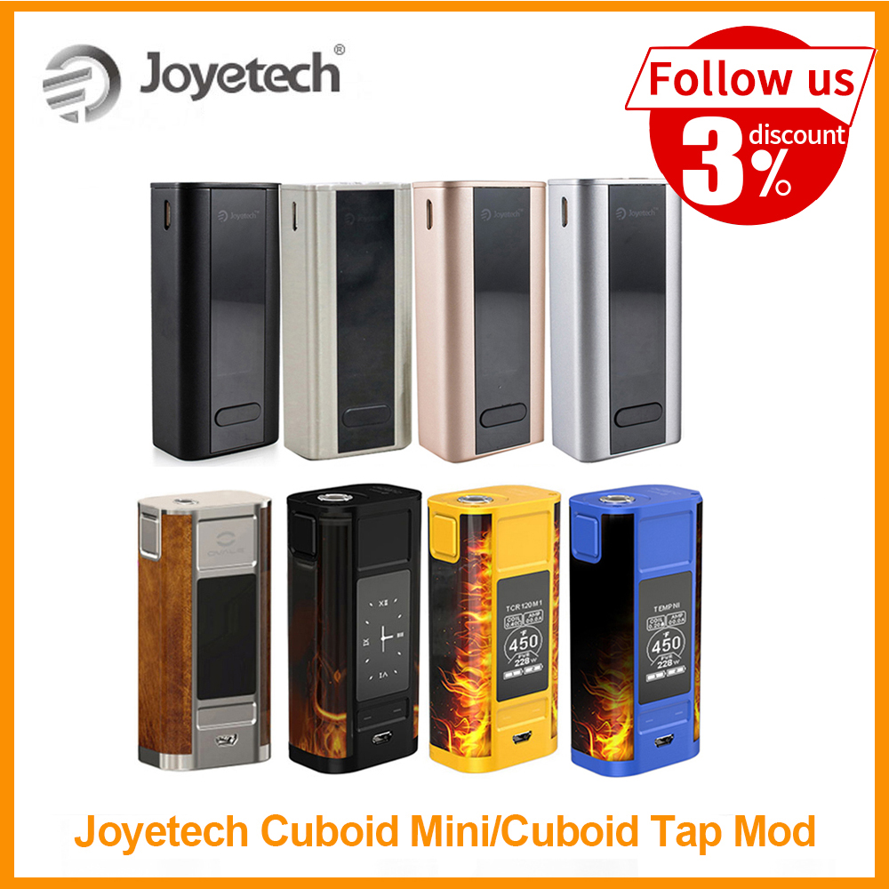 [RU/ES] Original Joyetech Cuboid Mini Battery Vape Mod Built In 2400mAh 80W Output VT/VW Mode Cuboid Tap Mod By Zeus X E-Cig