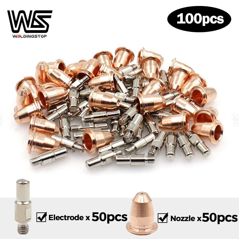 Electrodes Nozzle Tips PT40 PT60 IPT-60 S25 S45 Plamsa cutter torch Trafimet Style PKG 100