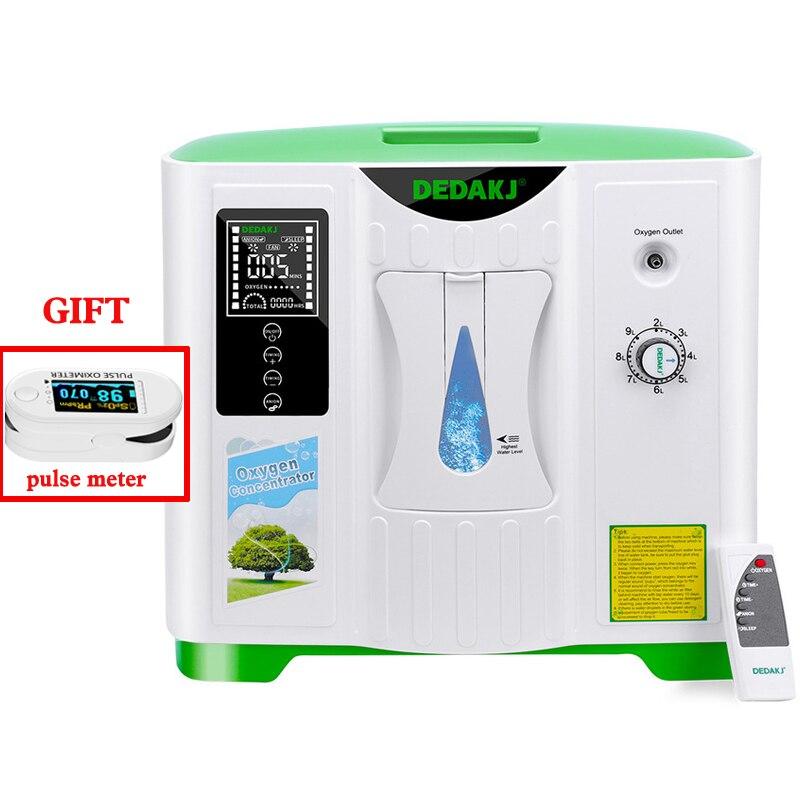 Кислородный концентратор, устройство для очистки воздуха 2L-9L DE-2A генератор кислорода 110 В 220 В, вентилятор, измеритель свободного импульса (а...
