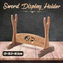 1pcs Japanese Samurai Sword Wenge Wood Wall Mounted Home Desk Decoration Stand S