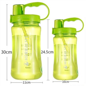 1000/2000 мл высокое качество устойчивость к падению рукоятка пищевой пластик спорт туризм клевер Herbalife портативная бутылка для воды