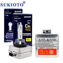 SUKIOTO 2PCS 55W D1S D3S Xenon HID Bulbs For E63 E65 E60 E85 E53 4300K 6000K 8000K D2S D4S Car Lamp For ES350 GS300 GS350 IS250