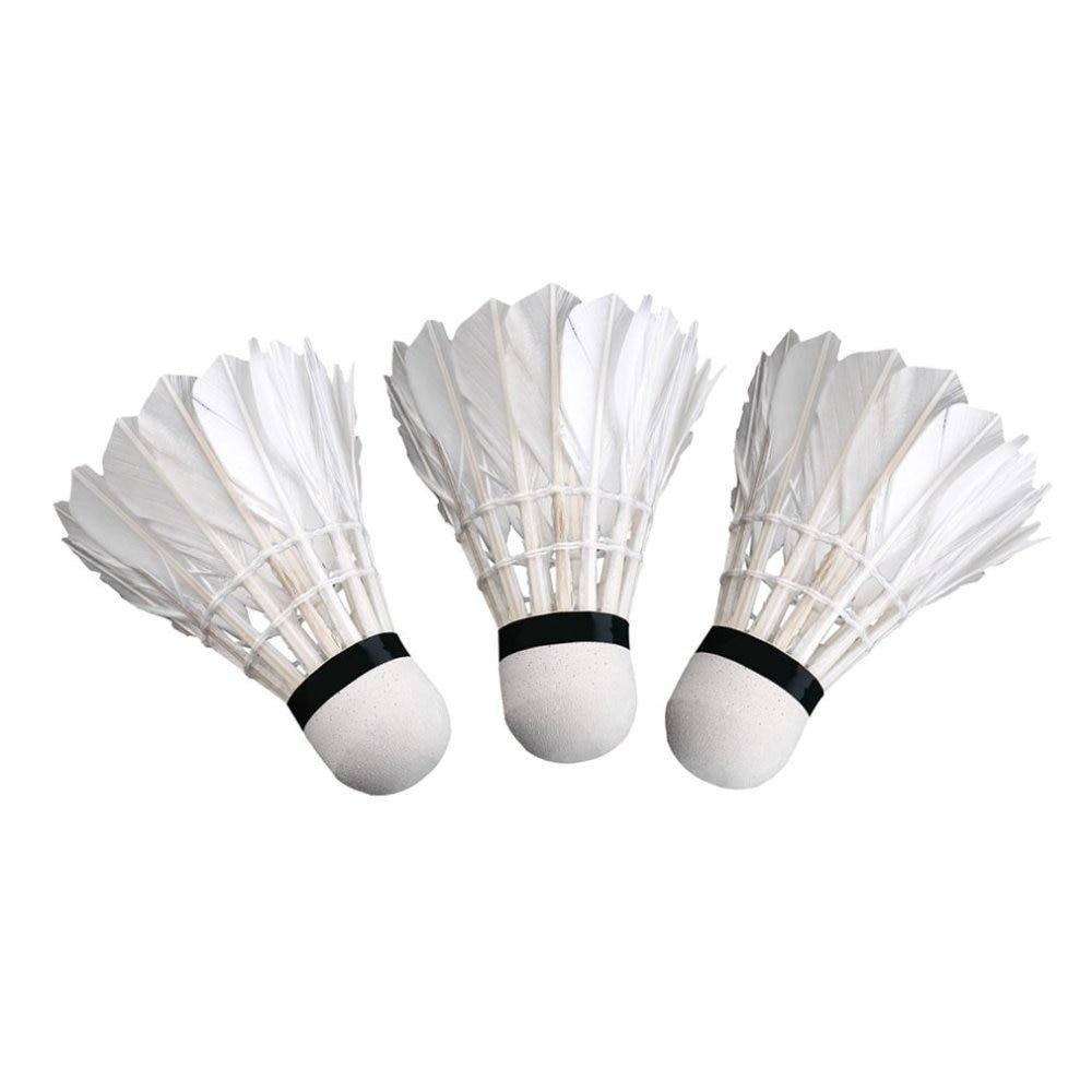 3pcs Game Sport Training White Duck Feather Shuttlecocks Badminton Ball@MT