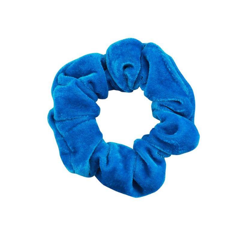 1 шт., женское эластичное кольцо для волос, зимние мягкие бархатные резинки, резинки для волос, милые одноцветные аксессуары для волос, держатель для конского хвоста - Цвет: 24