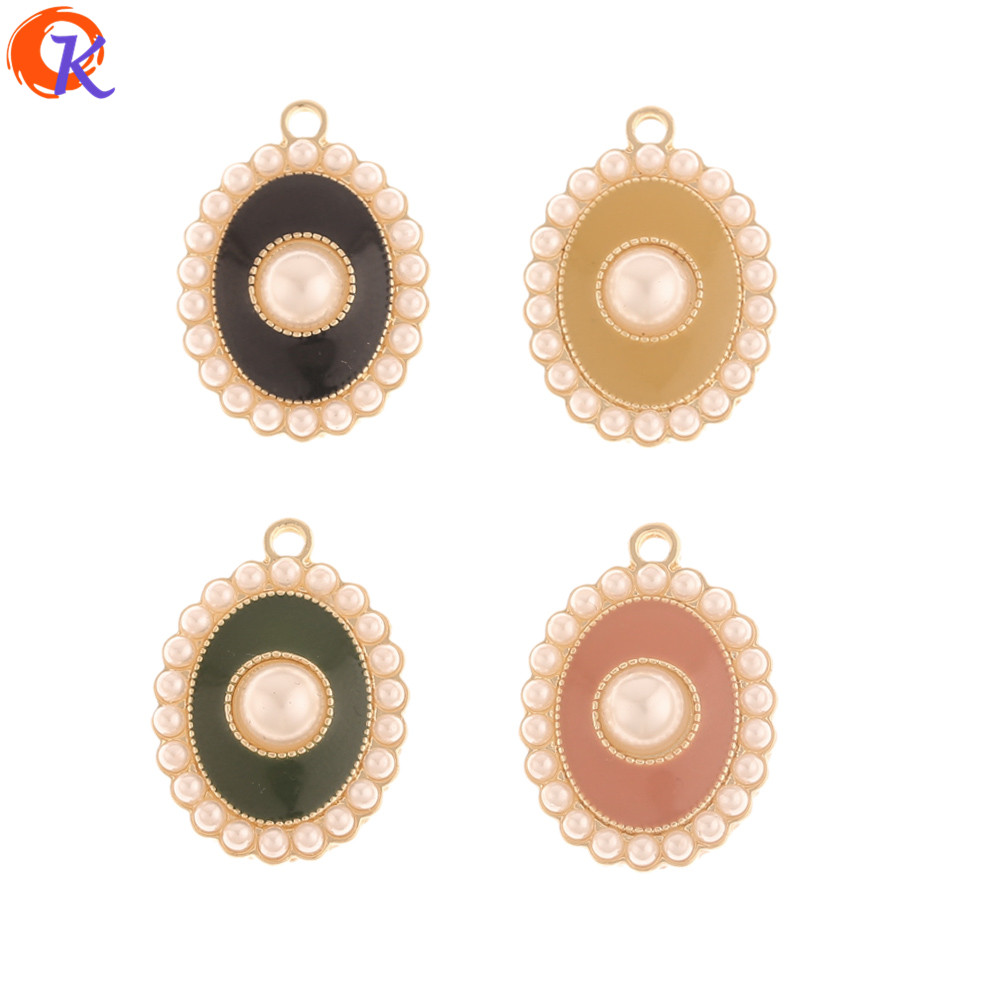 Cordial Design 50Pcs 17*24MM Jewelry Accessories/DIY Earrings Making/Hand Made/Imitation Pearl/Paint Effect/Earring Findings
