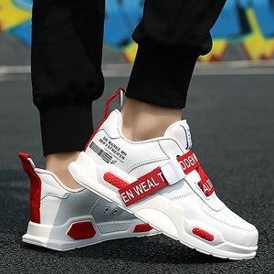 Image 5 - Nam Chun Giày Khóa Dây Siêu Sao Giày Bé Trai Chạy Bộ Người Giày Huấn Luyện Viên Lưu Hóa Xanh Size 11