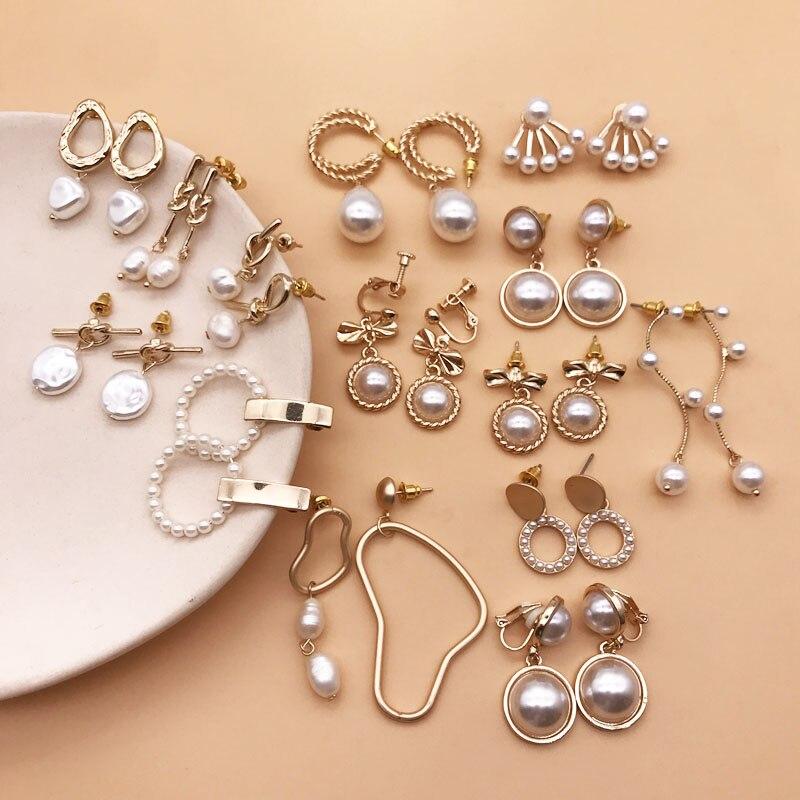 Free Shipping Pearl Earring Korea Styles Gift Lovely Romantic
