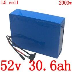 1000W 1500W 2000W 52V akumulator litowo jonowy 52V 30AH akumulator do skutera elektrycznego 52V akumulator do rowerów elektrycznych skorzystaj z LG komórki darmo duty Akumulator do rowerów elektrycznych Sport i rozrywka -