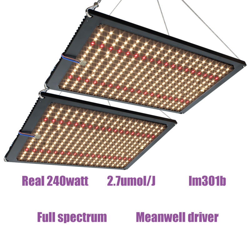 quantum <font><b>board</b></font> Led Grow Light Full Spectrum <font><b>Samsung</b></font> <font><b>lm301b</b></font> QB288 3500K/4000K/3000K+660nm Meanwell driver 120w/240w DIY parts image