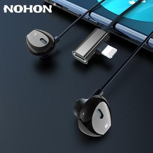 Image 2 - Auriculares magnéticos con cable y adaptador de carga para iPhone 7, 8 Plus, X, XS, 11 Pro, Max, Huawei, Samsung
