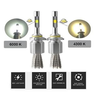 Image 5 - 2 uds H7 H4 bombillas LED 20000LM XHP50 Chips 110W 4300K 6000K de la linterna del coche 9005 HB3 H1 H11 D2S 9004 H13 H27 880 automóvil lámpara de la niebla