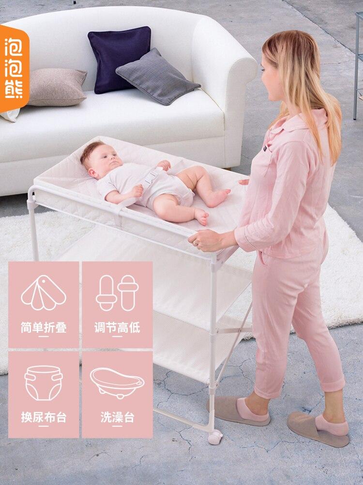 Table de changement de couche pour bébé baignoire pliable lit Portable multifonction soins infirmiers pour bébés nouveau-nés