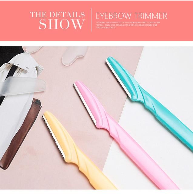 Women Eyebrow Trimmer Facial Hair Remove Razor Eyebrow Epilator Eye Brows Blades Shaver Knife Girl Makeup Cutting Cosmetic Tool 5