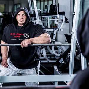 Image 5 - חדש קצר שרוול ברדס שרירים גברים כושר פיתוח גוף נים בגדי אימון מקרית כותנה חולצות סלעית אפוד מותג בגדים