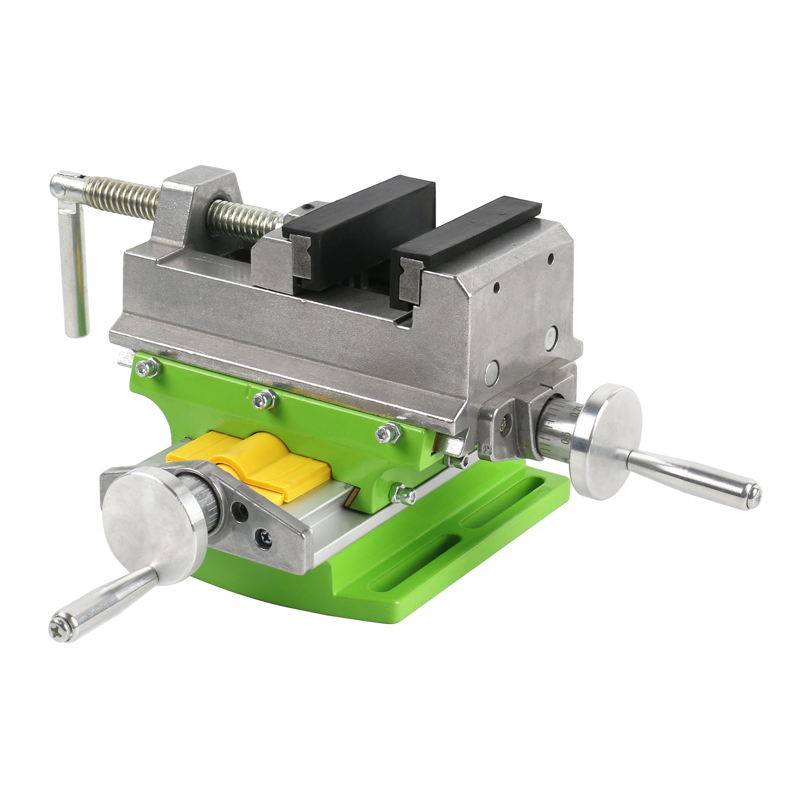 X Y-axis Table Bench Vise 3 Inch Adjustable Cross Compound Desk Vise Worktable Bench Clamp Fixture For DIY Drilling