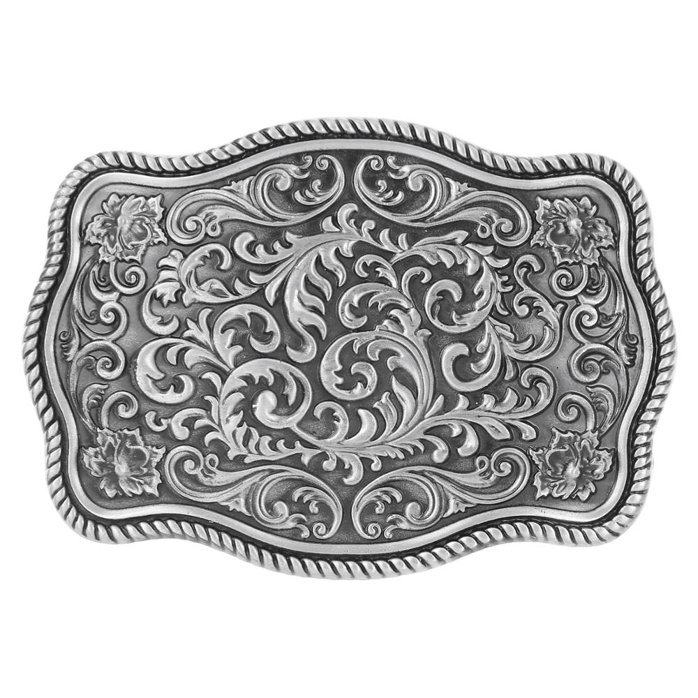 Classic Silver Pattern Belt Buckle Western-style Jeans Accessories Suitable For 4CM Belt