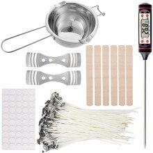 Kit de herramientas de artesanía para velas, herramienta de artesanía artesanal con crisol y termómetro
