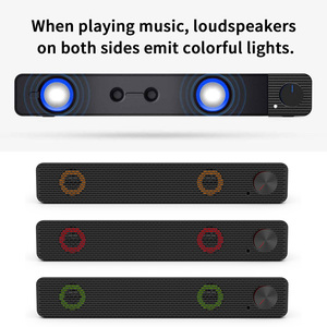 Image 5 - Smalody Soundbar 10W Computer Speaker 3.5mm Wired Speaker HiFi Stereo Sound Bar USB Powered Speakers for Laptop Computer Phones