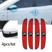 4Pcs ยางกันชนกันชนประตูรถ Anti Collision Scratch ป้องกันสติกเกอร์สำหรับ Ford Focus Fiesta Ranger Mondeo S MAX kuga MAX
