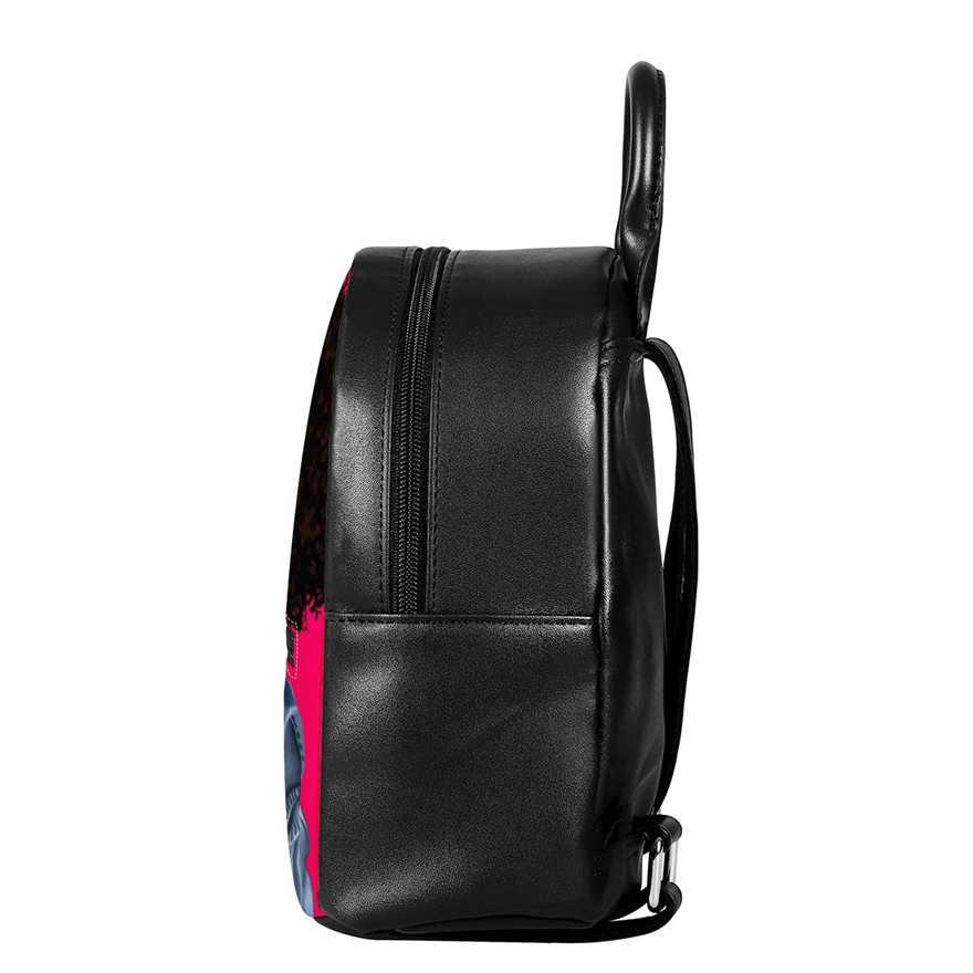 FORUDESIGNS sırt çantaları kadın siyah sanat afrika kızlar sırt çantası bayanlar lüks PU deri sırt çantası kadın Mini omuz çantaları Bolsa