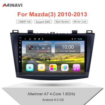 "For Mazda 3 2010-2013 9""/10'' Android 9.0 HD Car Radio Multimedia Player Navigation GPS Auto Stereo WIFI 2 Din image"