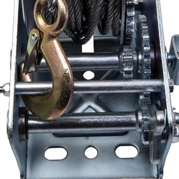 500lb korba ręczna stalowa przekładnia linowa wciągarka linowa łódź ATV przyczepa z hakiem Heavy Duty tanie i dobre opinie CN (pochodzenie) Mechanizm korbowy 17cm car tool 4 CYLINDRY 3500 pound load capacity 23cm Heavy Gauge zinc plated steel frame