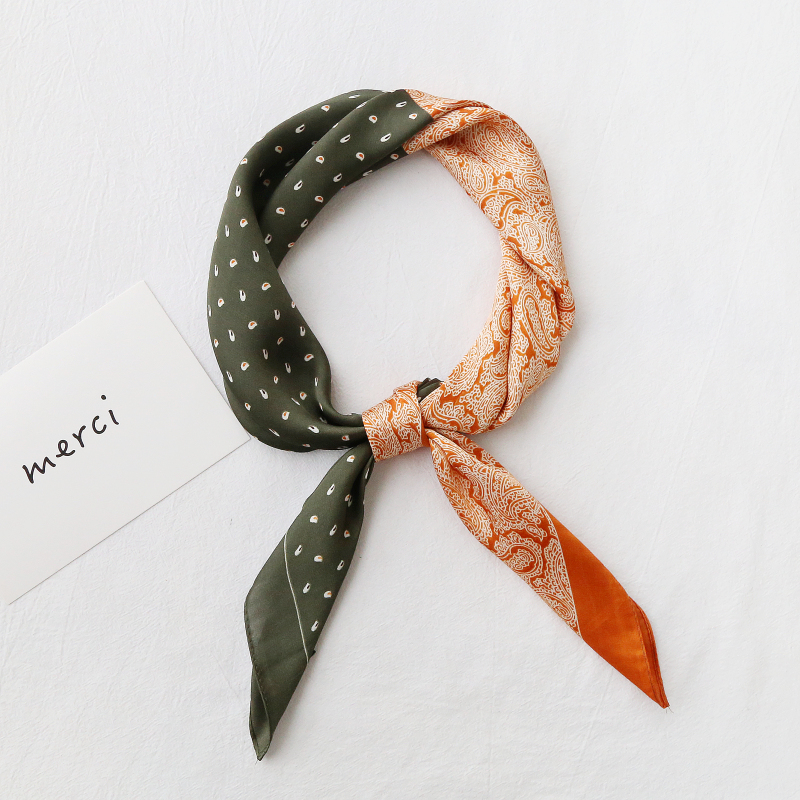 <font><b>70cm</b></font> Square <font><b>silk</b></font> <font><b>scarf</b></font> shawls for women classic dots printed neck <font><b>scarf</b></font> ladies Apparel Accessories foulard hair hand neck <font><b>scarf</b></font> image