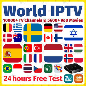 World IPTV subscription 9000+Live HD IPTV Sweden nederlands Spain Israel Finland Nordic IPTV M3U Europe android tv box X96 mini