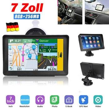 цена на 7 Inch Universal GPS Navigator for Car Truck Portable City GPS Navigation With Sun Visor 256MB 8G HD Capacitive Screen