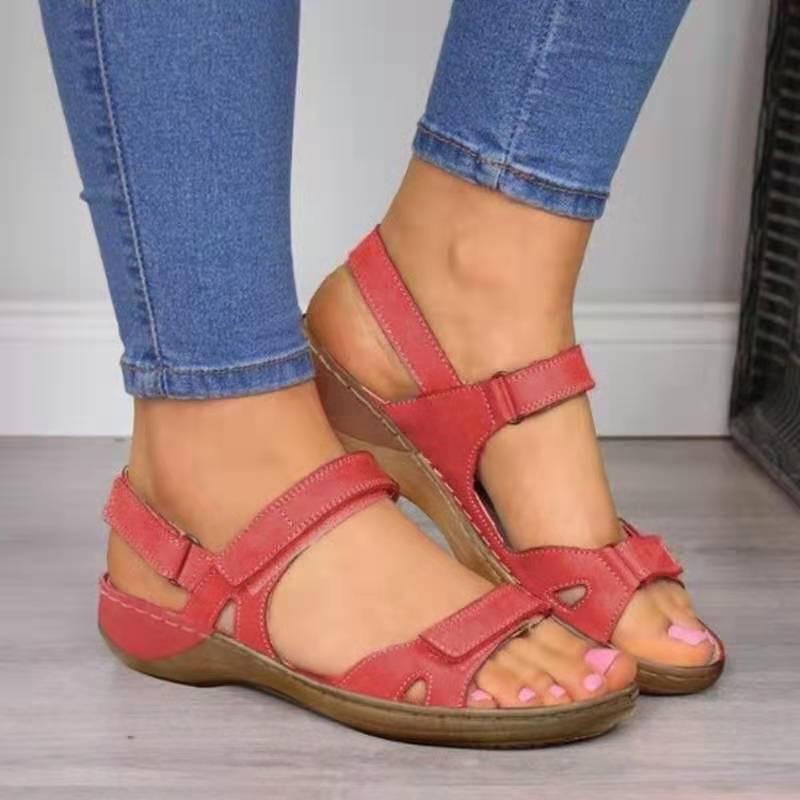 2020 Women Sandals Flat Open Toe Shoes Women Casual Platform Ladies Vintage Office Party Sandals Dropshipping Zapatos De Mujer 2