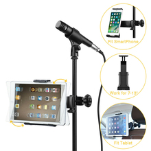Microphone Stand Cell Phone Holder Microphone Mount Small Stand 360° Car Back Seat Telephone Phone Holder Mic Stand Bracket