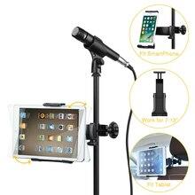 Suporte do microfone para celular, suporte pequeno de montagem do microfone 360 °, assento traseiro de carro, suporte para celular, microfone