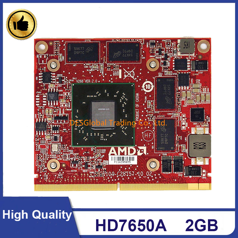 Original HD7650A 215-0803043 Video Graphics VGA Card For HP Eliteone 600 800 Compaq 8200 8300 Envy 20 23 MXM III 2GB 100% Test