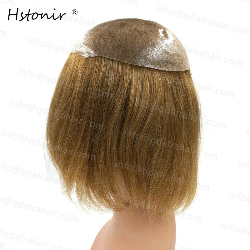 Hstonir Long Hair Natural Men And Women Wigs European Remy Hair Injection Thin Skin Toupee H076 - 3