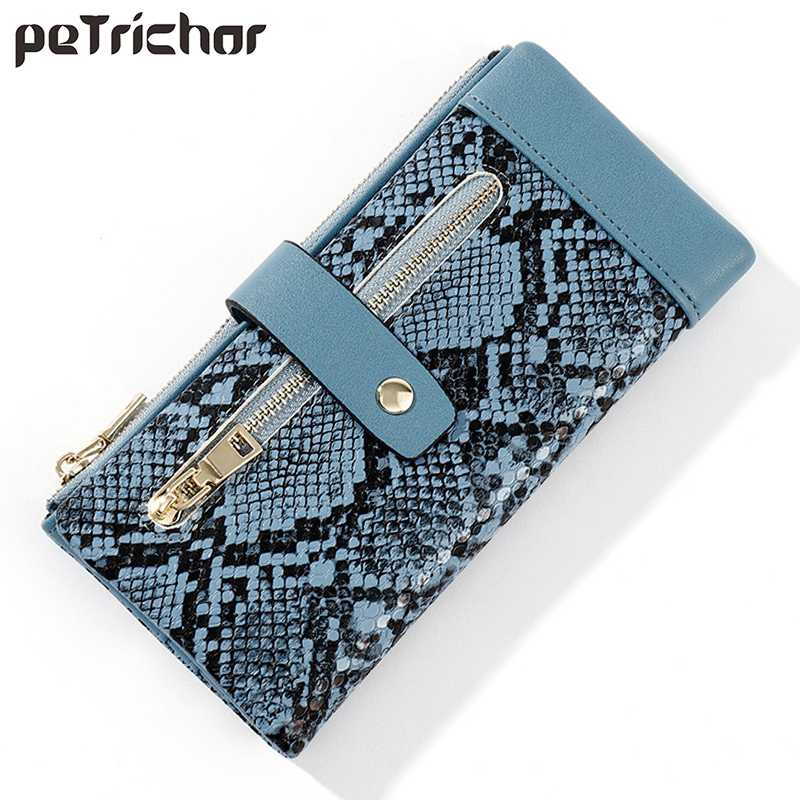 Hot Brand Wallet Women Serpentine Leather Lady Purses High Quality Ladies Clutch Wallet Long Female Wallet Carteira Feminina NEW