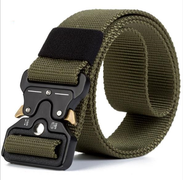 Snack Waist Belt Tactical Nylon Army Military Combat Belts Knock Off Emergency Survival Waist Straps Heavy Duty Belt Hunting