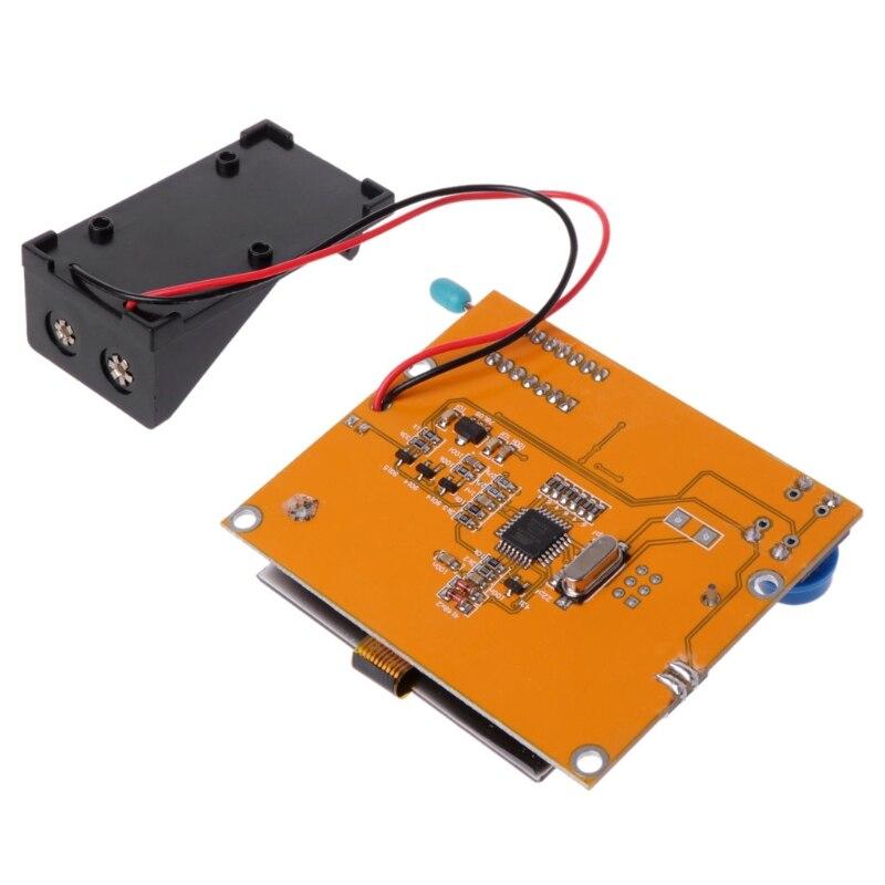OOTDTY 9В ЖК-цифровой транзистор тестер LCR и Т4 СОЭ метр 12864 подсветка емкости A5YD