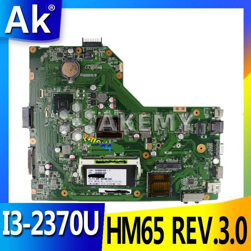 AK For ASUS X54C K54C Laptop motherboard hm65 REV.3.0 With I3 2370U test good|Motherboards| |  - title=