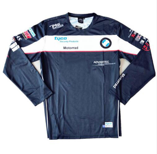New hot sale Tyco moto gp <font><b>Motorrad</b></font> Motorcycle <font><b>T</b></font>-<font><b>shirt</b></font> Long Sleeve Motocross Jersey Motorsport Cycling Polyester <font><b>shirts</b></font> for <font><b>BMW</b></font> image