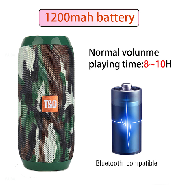 YABA Portable Bluetooth-compatible Speaker boombox Soundbar Subwoofer Outdoor Sports caixa de som Loudspeaker TF Card FM Radio 3