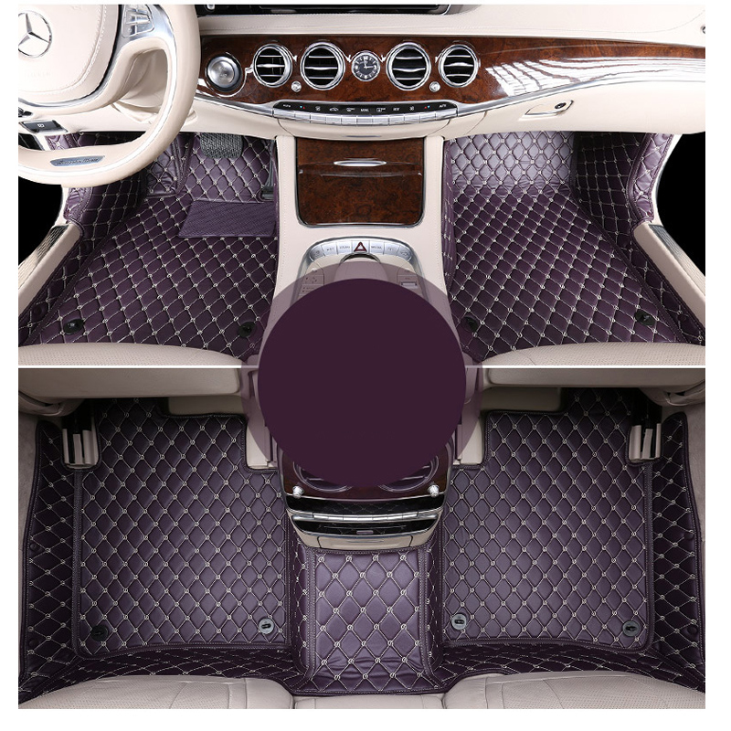 lsrtw2017 leather car floor mats for mercedes benz s class w220 w221 w222 s500 s600 s320 s350 s400 1998-2020 accessories carpet image
