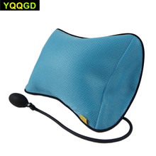 Almofada de apoio lombar inflável portátil/almofadas de massagem design ortopédico para o descanso de apoio lombar do alívio da dor nas costas