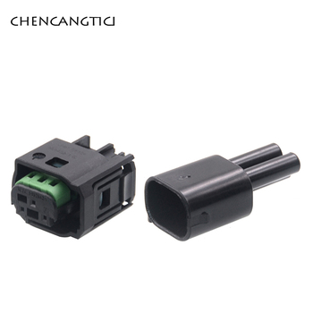 2 Sets Pcs 3 Pin Way 0.6mm Waterproof Automotive Male Female Radar Sensor Connector Plug 968402-1 1-967642-1For Benz BMW C200 2sets 6pin tyco waterproof automotive sensor connector 4f0973706 for new opel mercedes benz smart