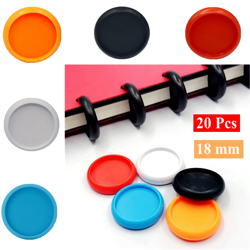 20 Pcs 18mm Solid Color Disc Binder For Notebooks/Planner Diy Loose Leaf Binding Rings Discbound Notebook Accessorries CX19-009