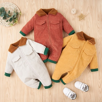 PatPat 2020 New Winter  Baby Stylish Solid Jumpsuits for Boy Clothes