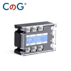 Image 2 - CG 3 Fase 60A 80A 100A DA Tre Fasi SSR 3 32V DC di Controllo 24 480V AC Relè A Stato Solido SSR DC A Relè AC