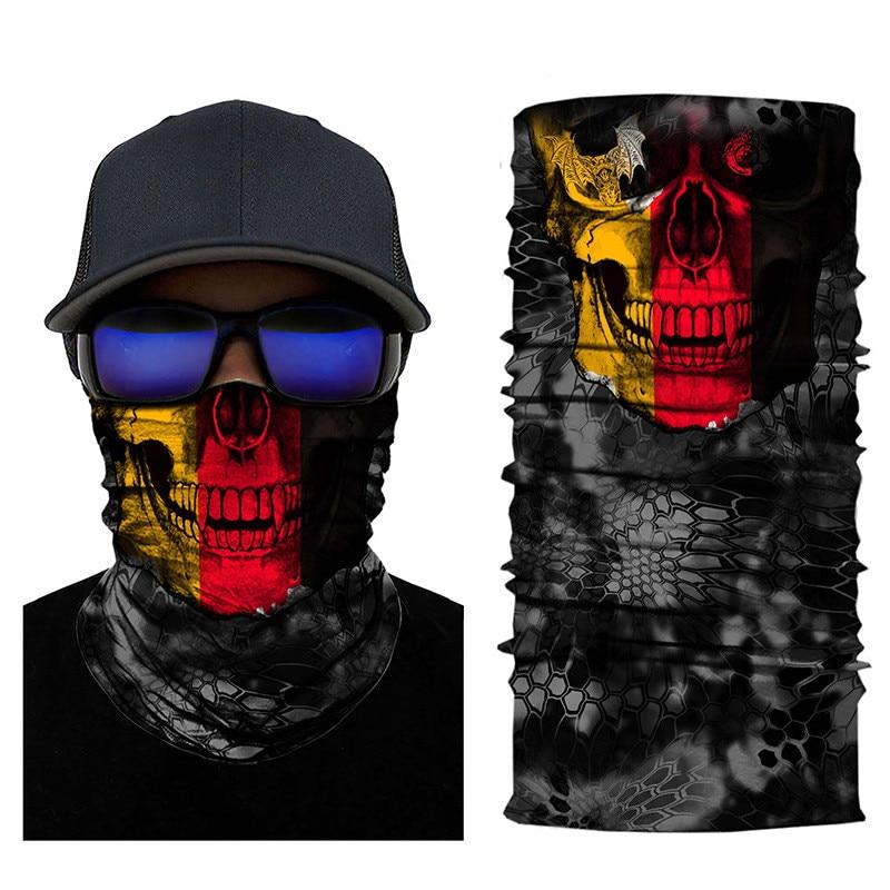 Skull Face Counrty Flag Seamless Balaclava Scarf 7