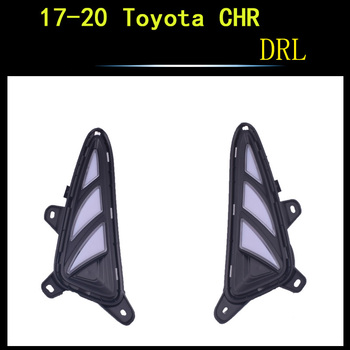 ECAHAYAKU 2PCS LED DRL Daytime Running Light Fog Light for Toyota CHR C-HR 2017 2018 2019 2020 Car Exterior Accessories Styling