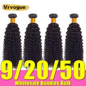 Kinky Curly Bundles 28 30 Inch Human Hair Wholesale Bundles Brazilian Hair Weave 9-20-50 On Sale Remy Hair Extensions Vrvogue