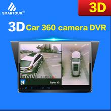 Smartour 3D HD 360 System monitorowania widoku przestrzennego samochodu System widoku ptaka 4 kamera DVR HD 1080P rejestrator monitorowanie parkowania tanie tanio Boczne FRONT Z tyłu Other Mjpg Klasa 10 Wodoodporna Automatyczny balans bieli Cykliczne nagrywanie Anti fog Anty wibracji